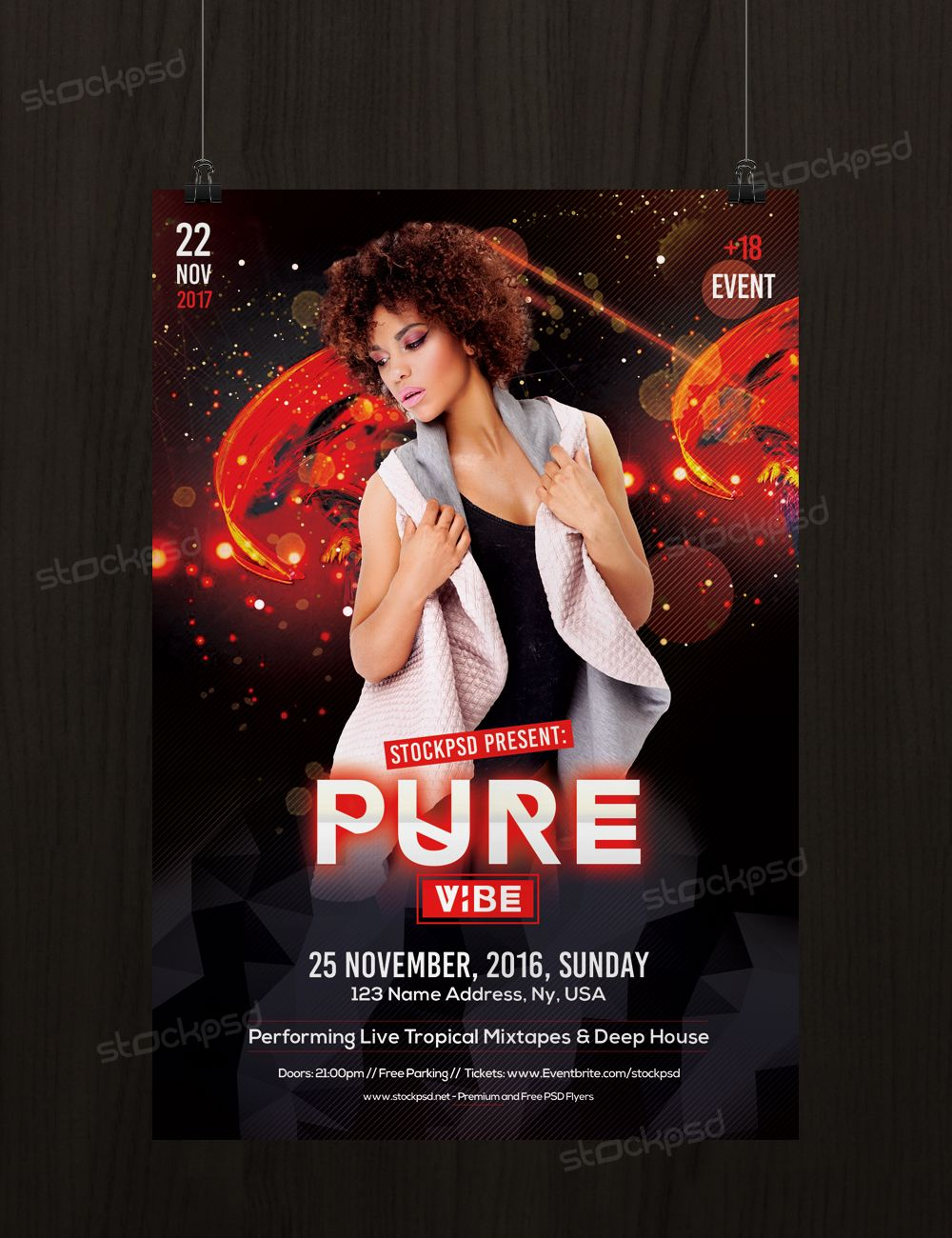 Pure Vibe  Download Free Psd Flyer Template  Psd Flyers