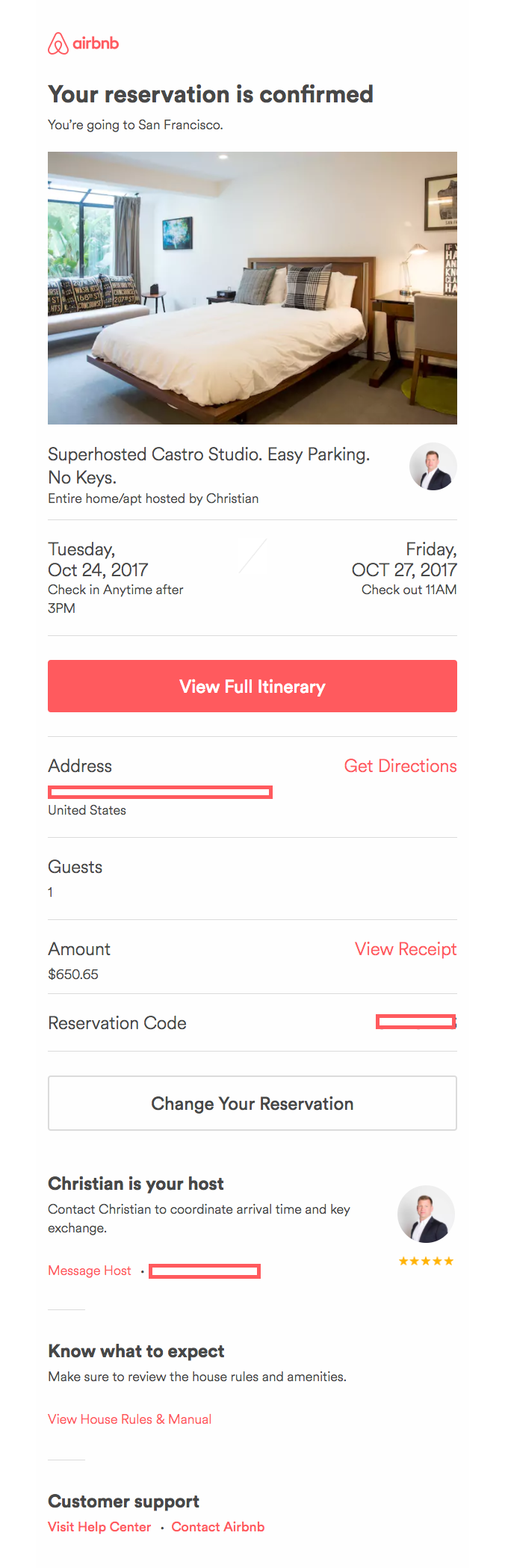 Reservation Confirmation Email Template Airbnb Confirmation Email Template Order Confirmation Email Confirmation
