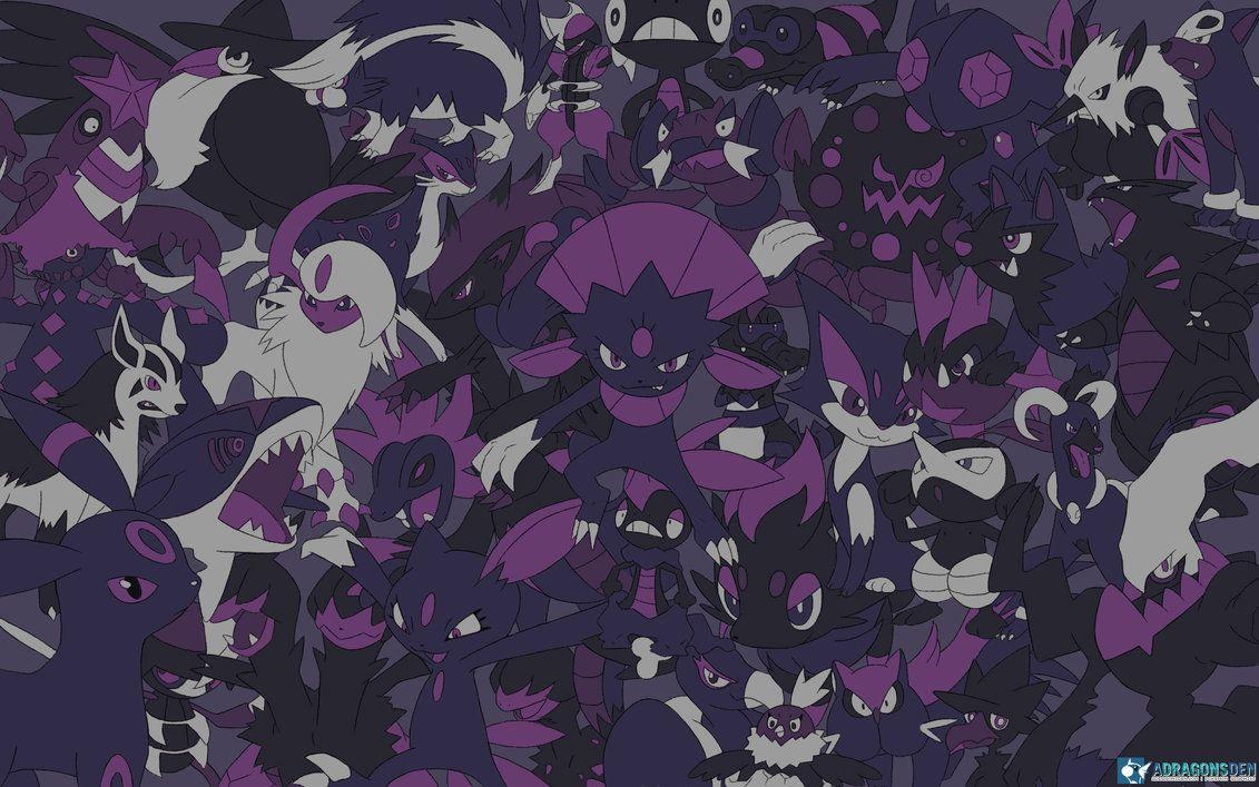 Every Dark Pokemon Wallpaper By Lvstarlitsky On Deviantart Dark Type Pokemon Dark Pokemon Ghost Pokemon