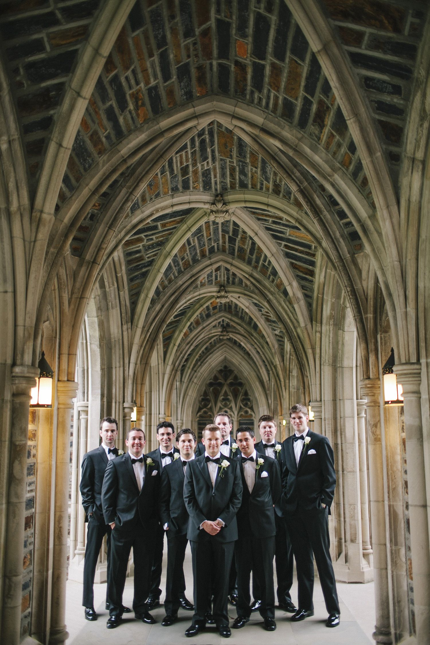 Navy Blue Gold And Ivory Wedding At Duke University