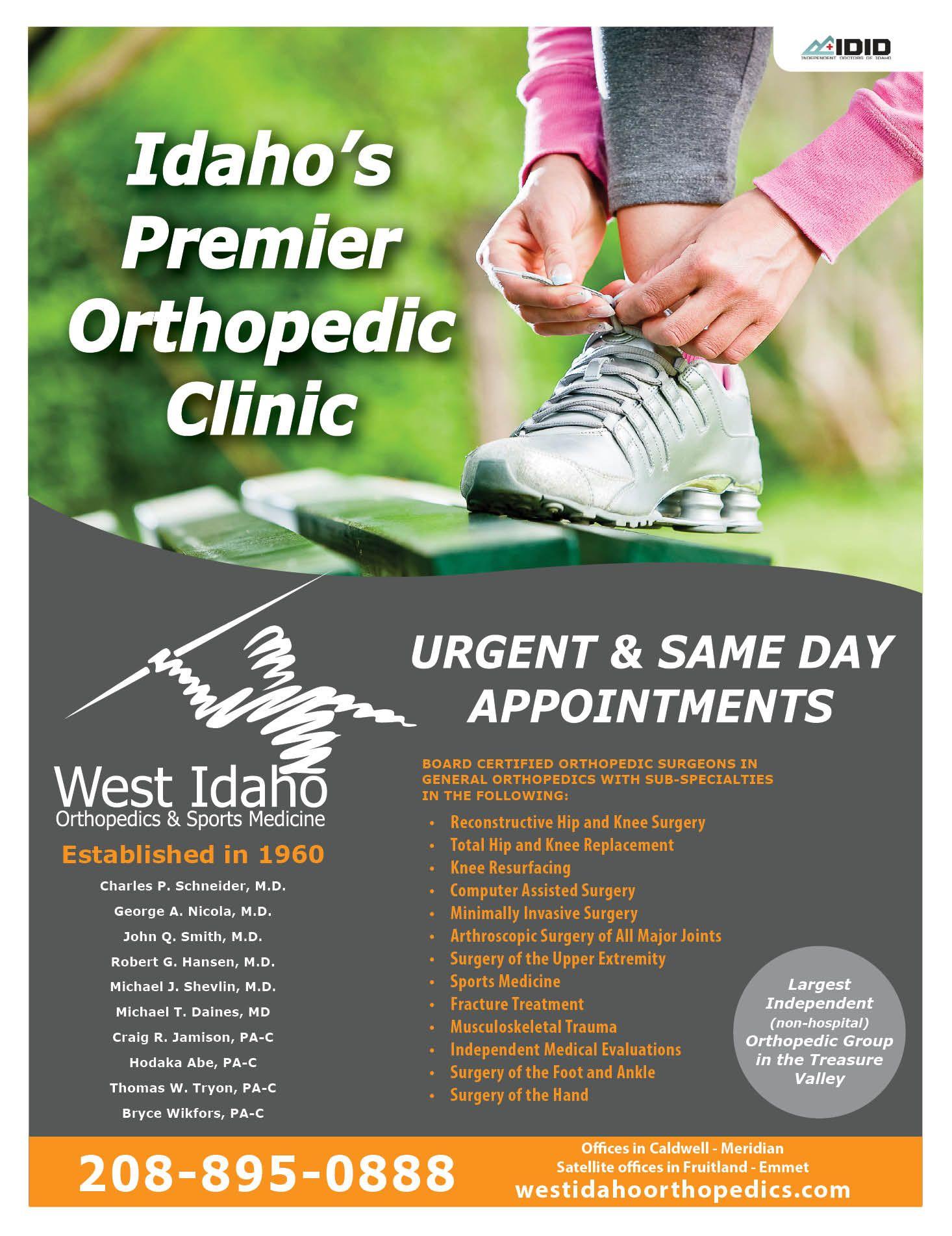 West Idaho Orthopedics And Sports Medicine Serving Boise