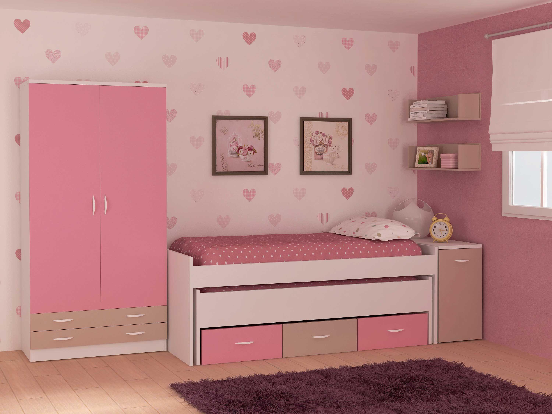 Dormitorio de la colecci n popping con estanter a cama - Camas con arcon ...