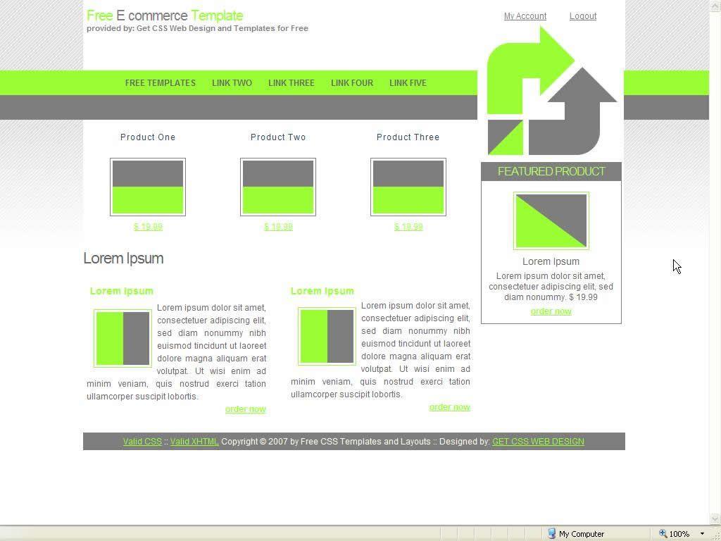Two Column E Commerce Website Template #webdesign - More Web Ideas ...