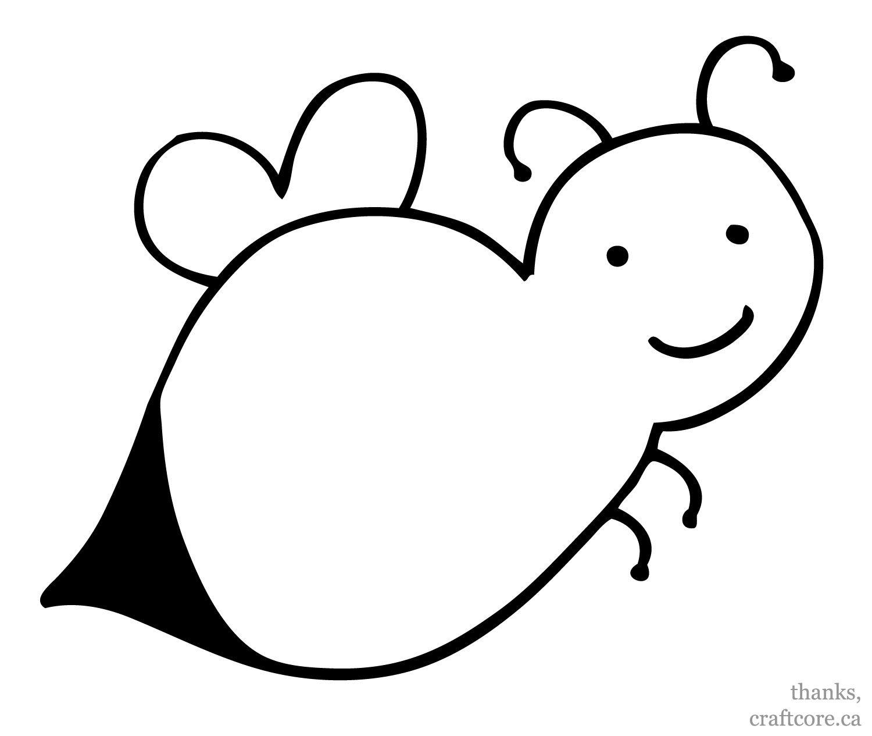 bee printable projects for preschoolers Easy Bumblebee
