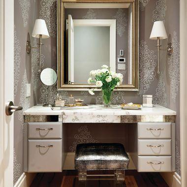 makeup vanity in closet design ideas, pictures, remodel