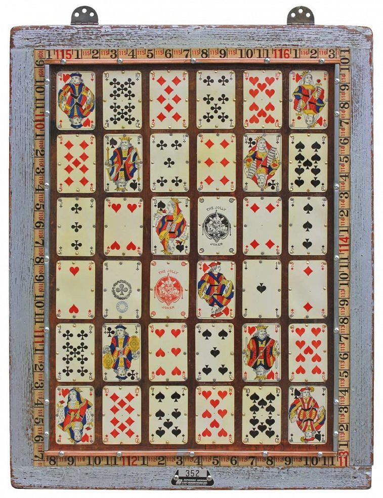 Vintage Playing Cards Original Wall Art Craft Ideas Playing