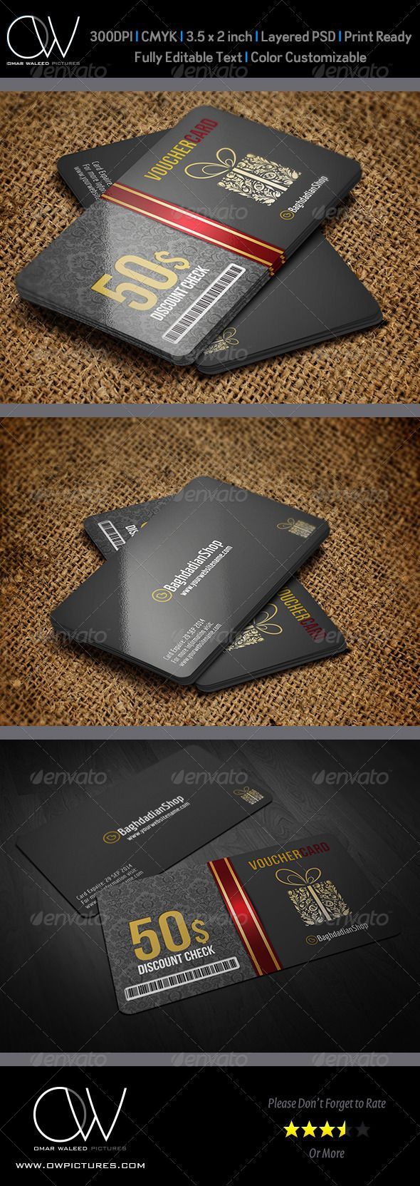 Gift Voucher Card Vol. 9 Template - Cards & Invites Print Templates