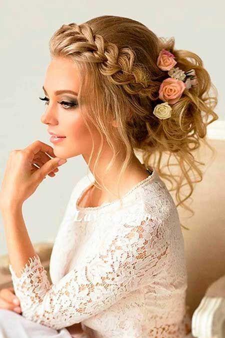 24 besten geflochtenen Hochsteckfrisuren Prom Frisuren, Hochzeit, Hochzeit, Hochzeit, höchste ... - Hochzeit - Schmuck #bunupdo