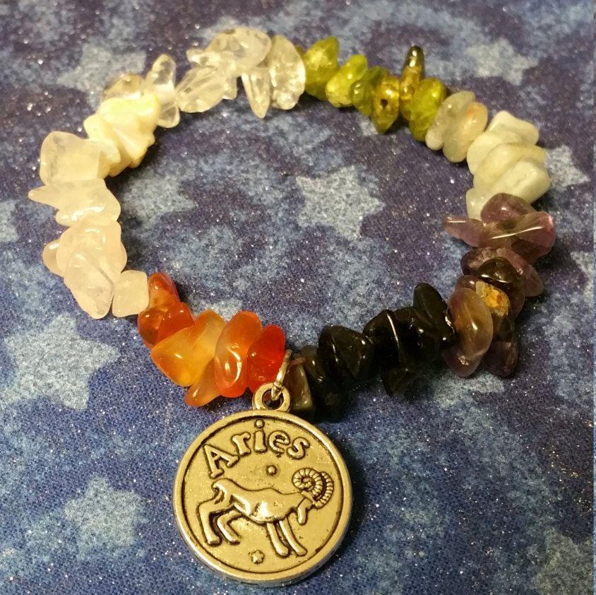 Zodiac Bracelet Astrology Custom Bracelet Gemstone Bracelet