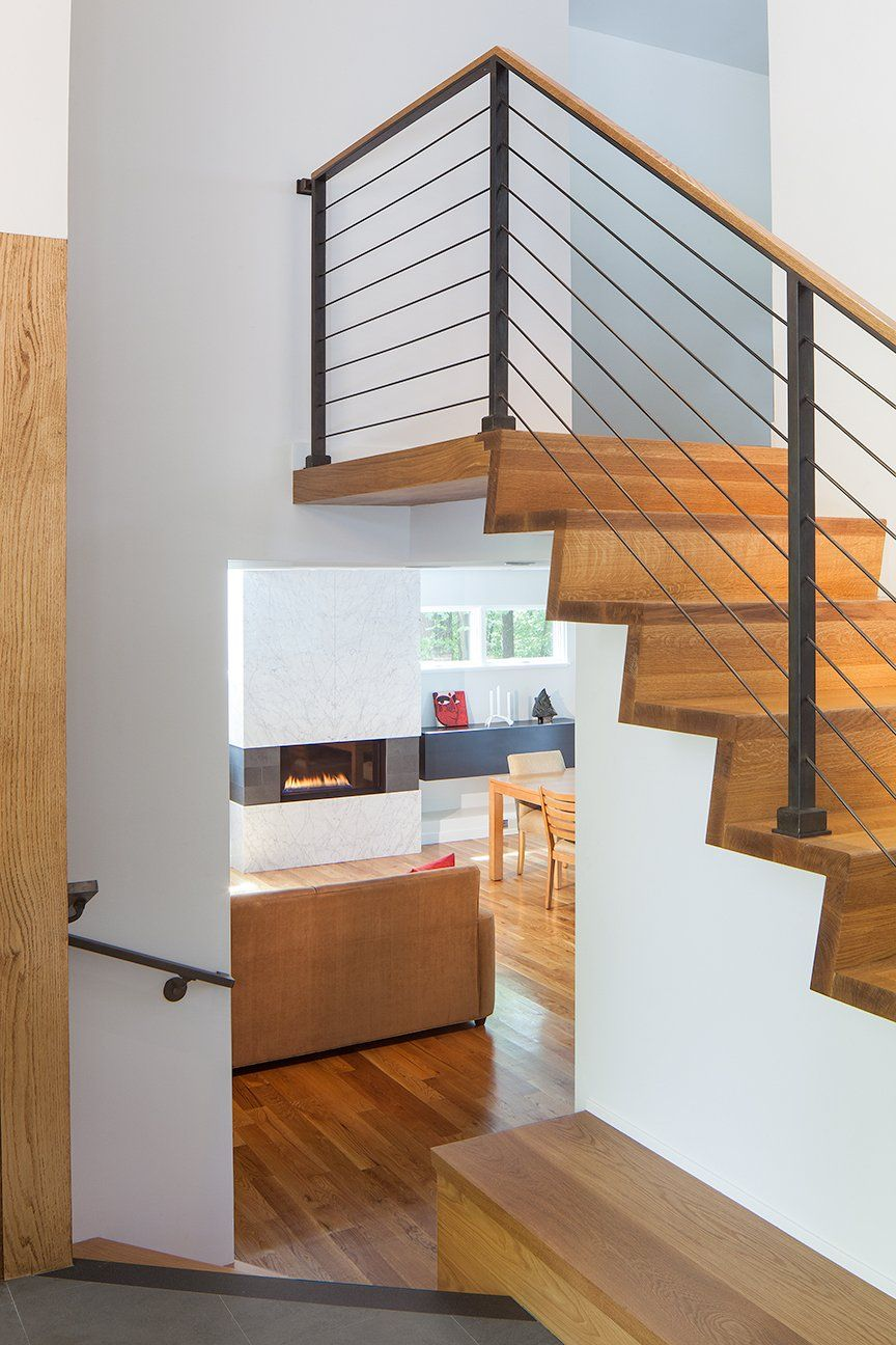 Master bedroom entry  From entry to lower level with stair to master bedroom level