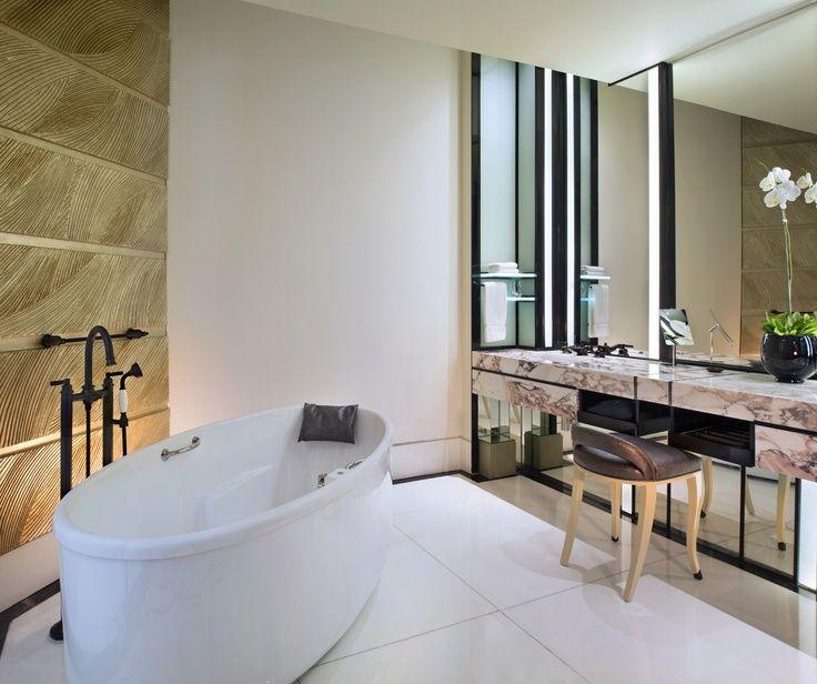Keraton At The Plaza In Jakarta Indonesia Bathroom Interior Design Small Bathroom Decor Elegant Bathroom Luxury hotel bathroom in jakarta