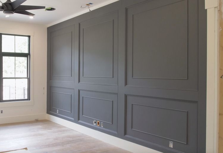 Double Raised Panel Feature Wall Wainscoting Wall Wood Feature Wall Wall Paneling Diy