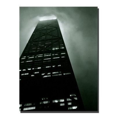 "Trademark Art ""Hancock"" by Michelle Calkins Framed Graphic art on Wrapped Canvas Size:"