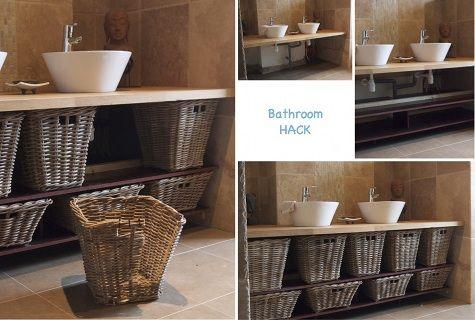 Wicker Basket Bathroom Furniture