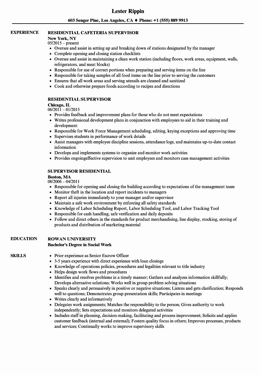 Resident assistant Job Description Resume Awesome