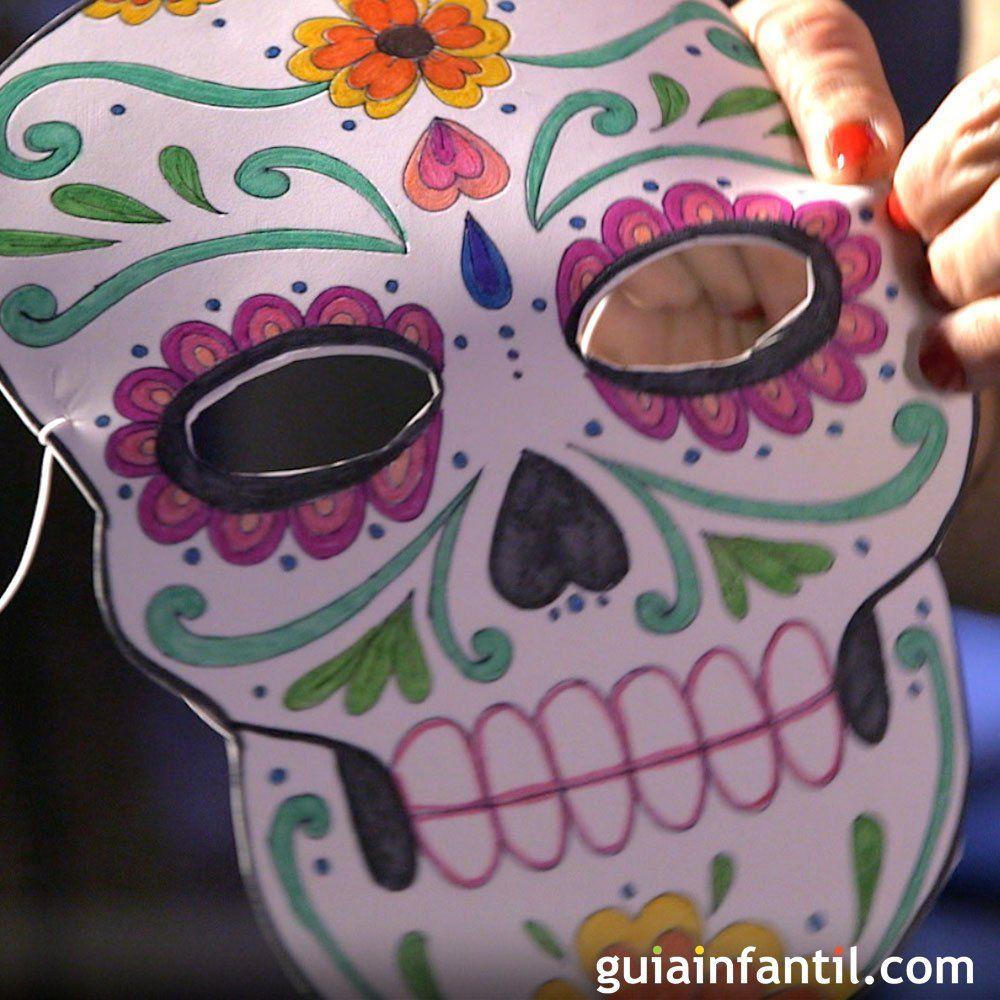 C mo hacer una m scara o careta de catrina para halloween - Como hacer una mascara ...