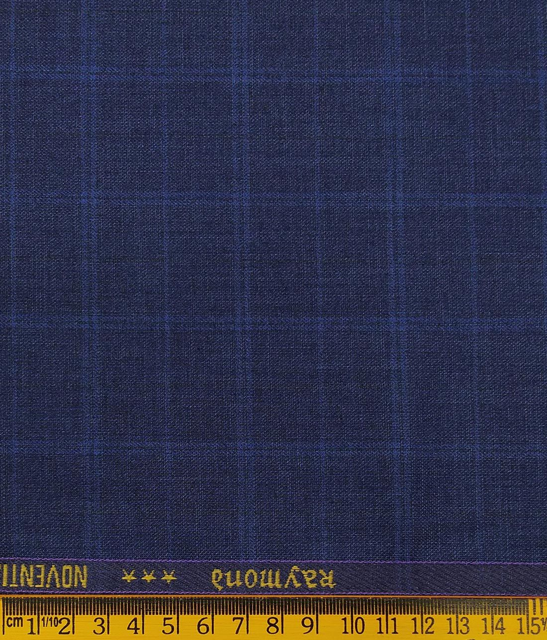 1a48d72d7 Combo of Raymond Dark Blue Broad Checks Trouser Fabric With Bombay Rayon  White 100% Cotton Blue Paisley Print Shirt Fabric (Unstitched)