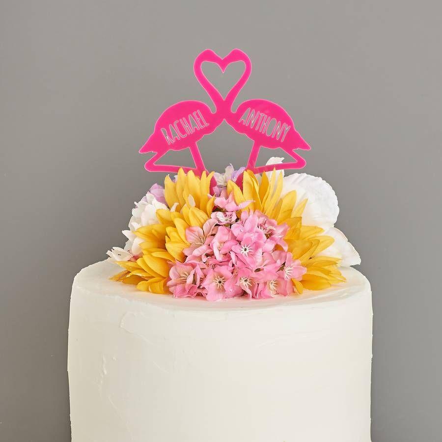 Flamingo Couples Wedding Cake Topper | Flamingo, Wedding cake and ...