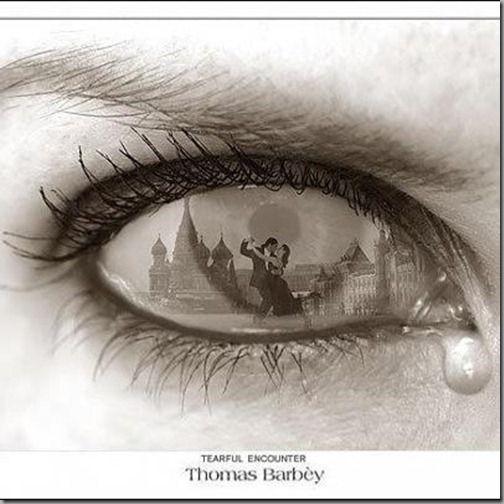 Man crying eyes drawing