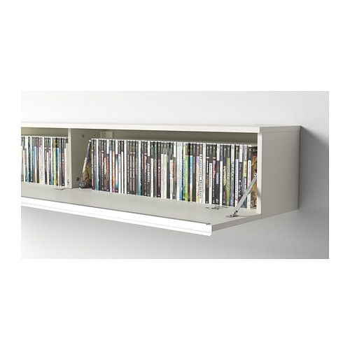 Best burs tag re murale brillant blanc ikea pour for Etagere murale pour dvd