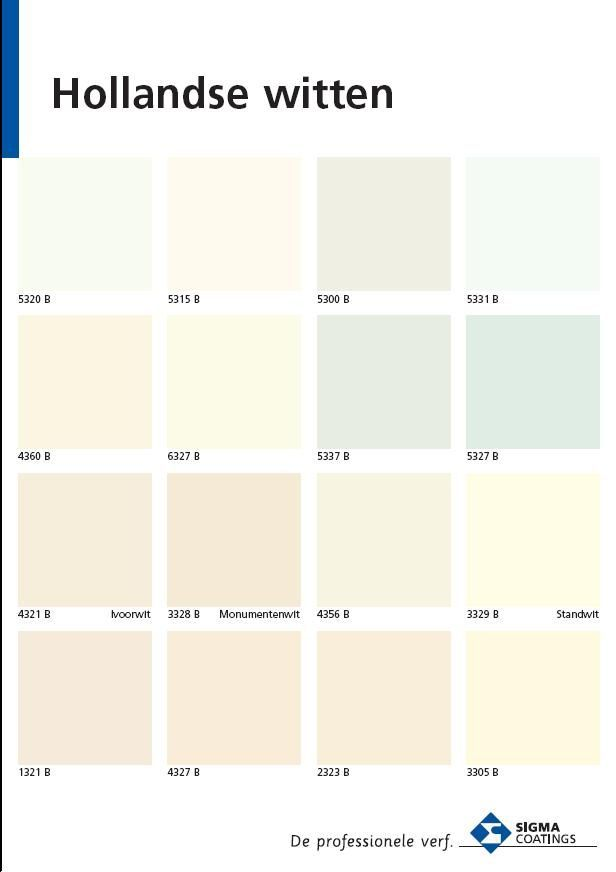 Verschillende tinten wit een klein verschil in kleur maar met groots effect samengesteld door - Hoe een verf kleur voorbereiden ...