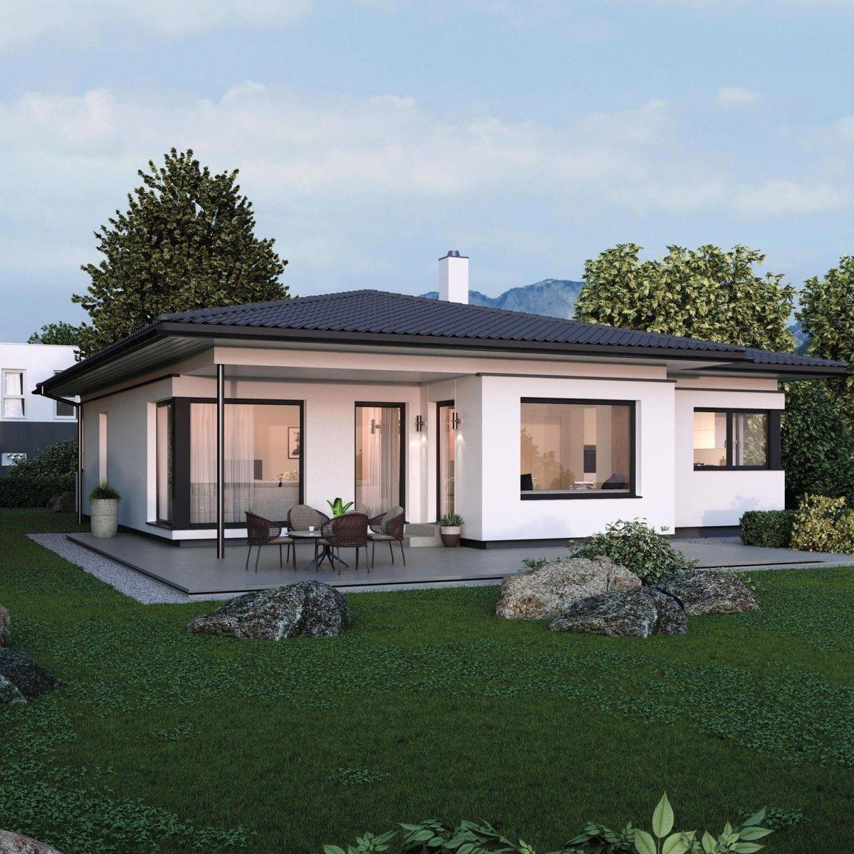 Bungalow Bauen: Bungalow Haus Design Modern Mit Walmdach Architektur