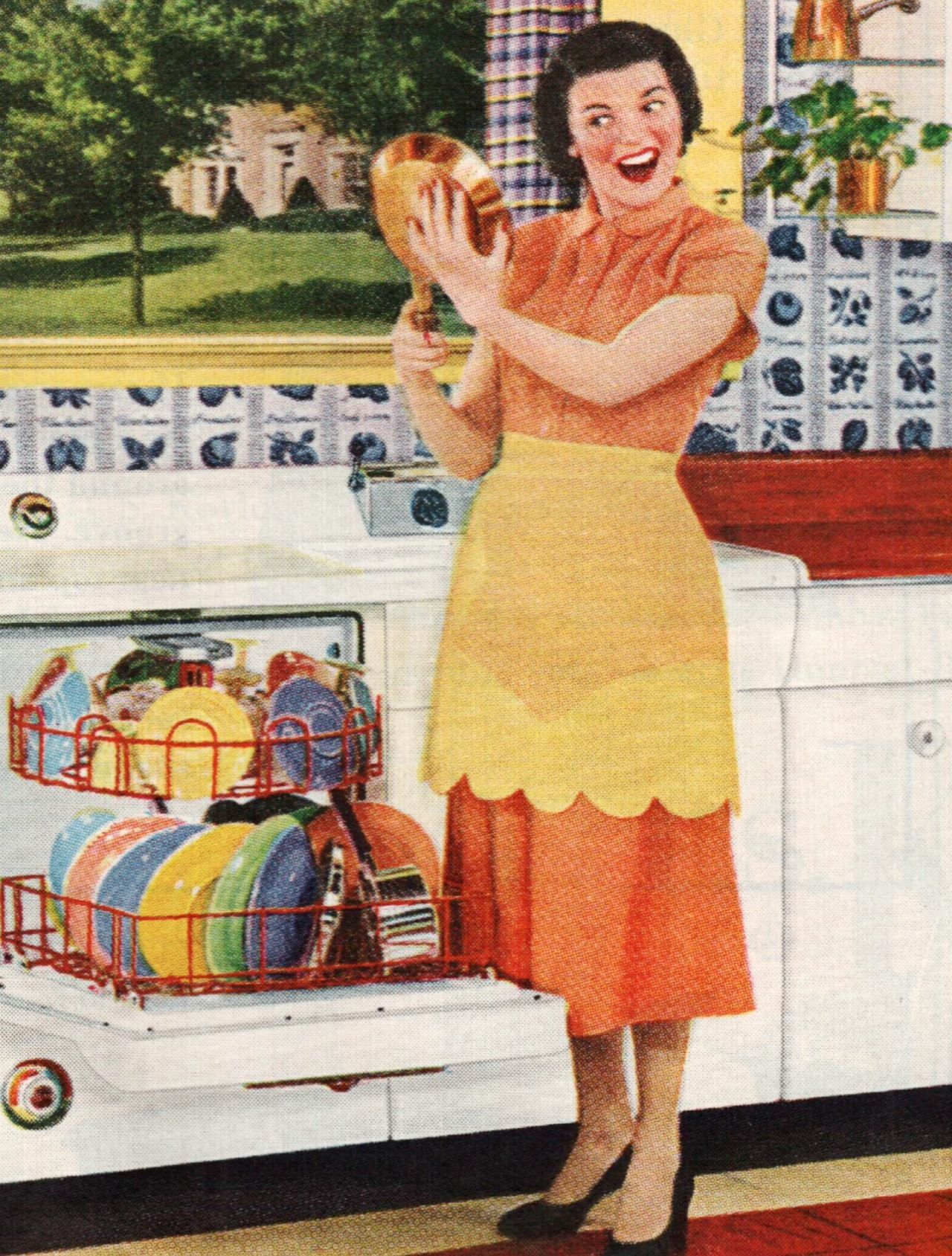 A dishwasher full of Harlequin dishes!