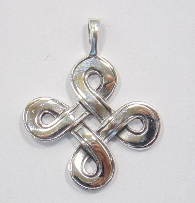 Schmuckanhänger - Anhänger unendlicher Knoten Tibet 925 Silber - ein Designerstück von Lafemme-by-Solitaer bei DaWanda