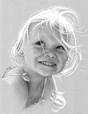 Rita Kirkman pencil portrait for Mariah's first birthday! www.ritakirkmandrawings.com: