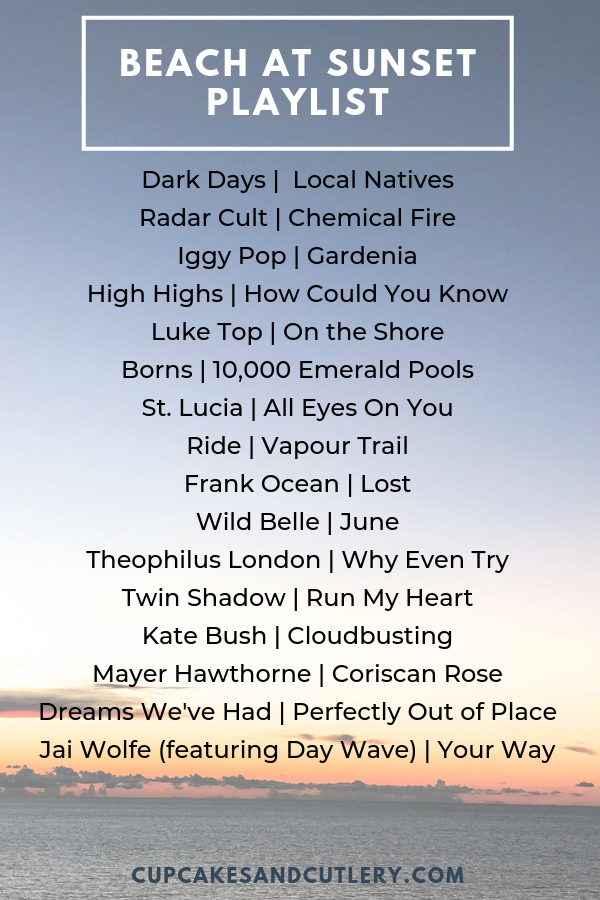 This is my go-to playlist for when I want a cool, relaxed vibe. It's over 10 hours of music and I love to listen to this while I cook dinner. It's my favorite sunset playlist for summer time! #summer #plalylist #indiemusic #soundtracktosummer