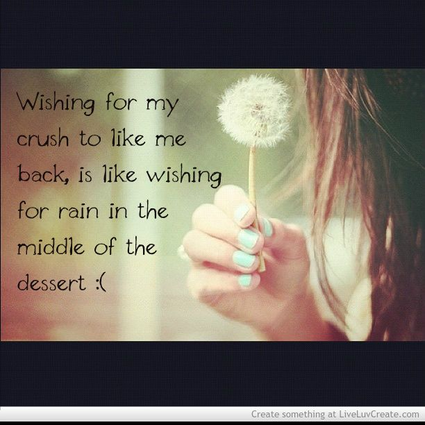 quotes about your crush not liking you back | Wishing For Your Crush To Like You Back