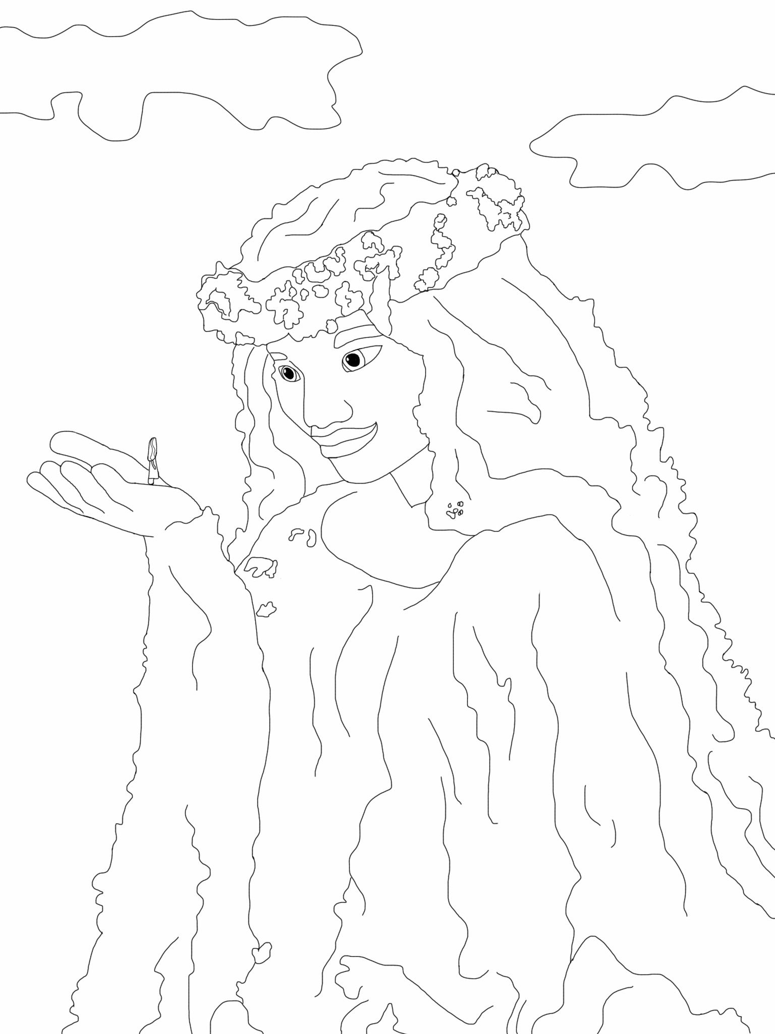 Te Fiti Coloring Page Moana Moana Coloring Pages