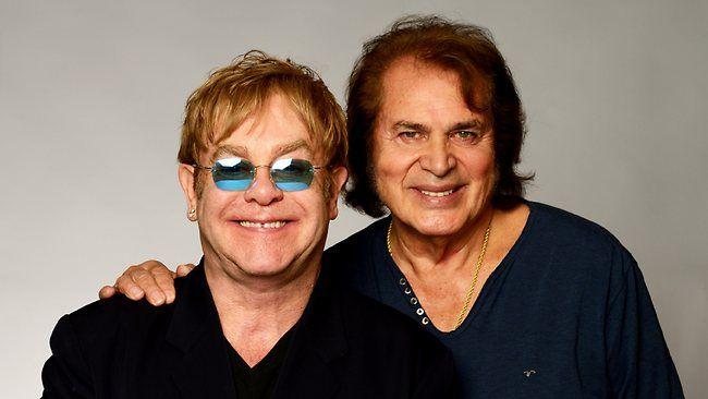 British crooner Engelbert Humperdinck with Sir Elton. Is Englebert is looking a little Bruce Jennerish as he ages?