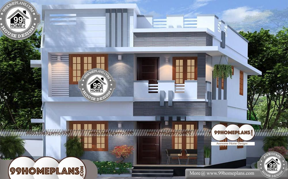 Modern Style House 2 Story 1300 Sqft Home House Design Two Storey House Indian House Plans