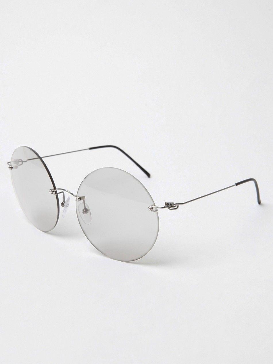 Maison Martin Margiela 8 Rimless Round Glasses | Rimless Frames ...
