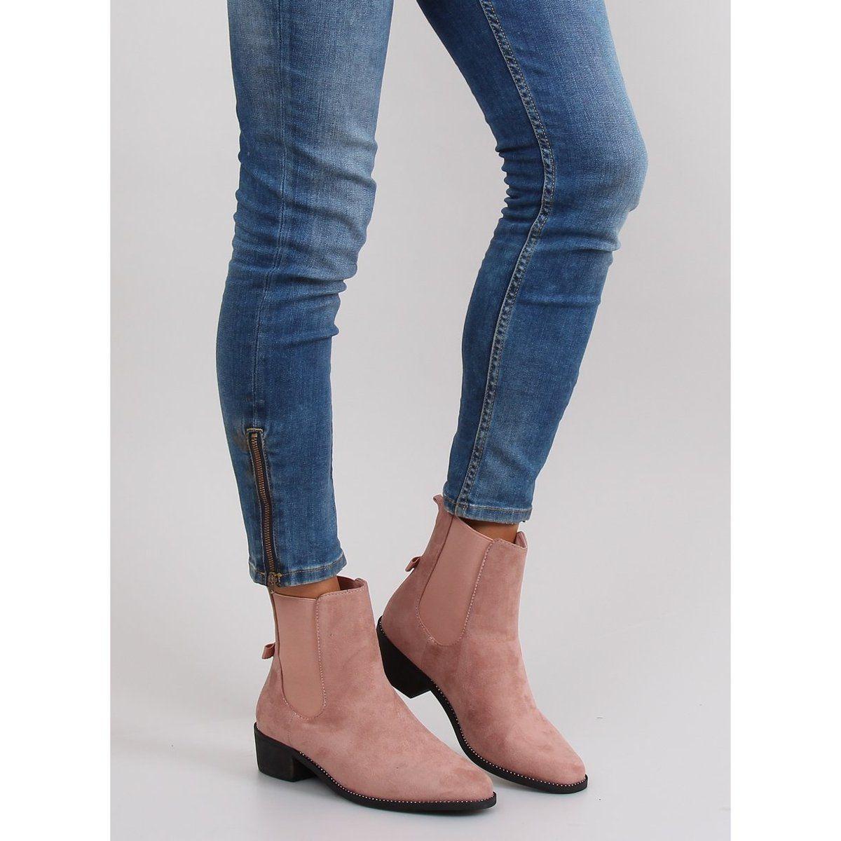Slender Jodhpur Boots With A Bow M270 Pink Jodhpur Boots Shoes Women Heels Jodhpur