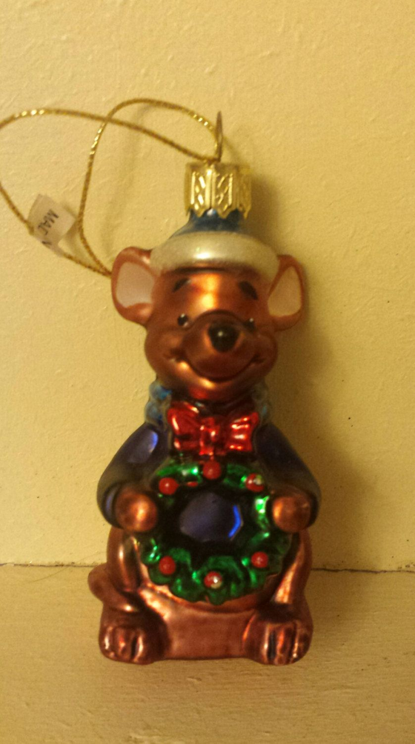 Disney Winnie the Pooh little Roo Blown Glass Christmas Ornament by ukbeadsonline on Etsy