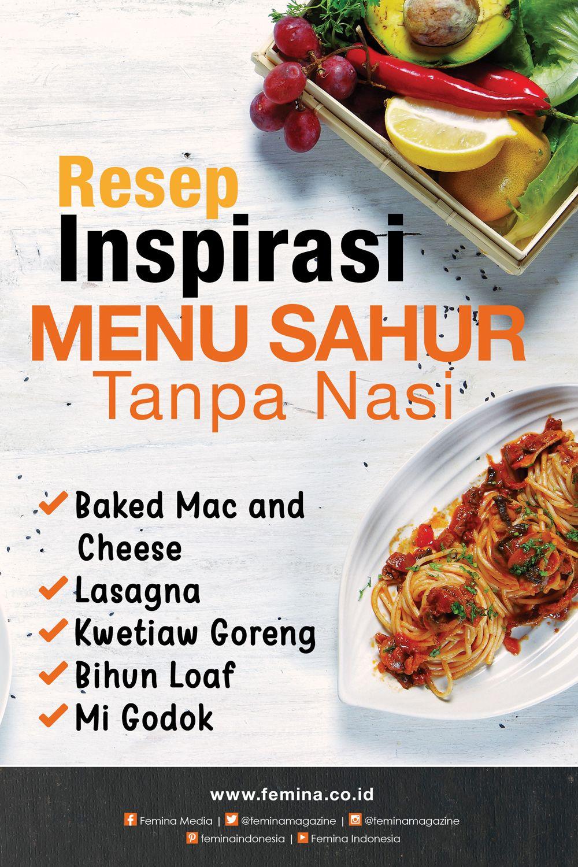 Inspirasi Menu Sahur Tanpa Nasi Resep Masakan Ide Makanan Makanan Sehat