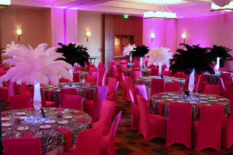 Zebra print wedding reception we did standup cocktail tables plus pink and zebra bat mitzvah junglespirit Choice Image