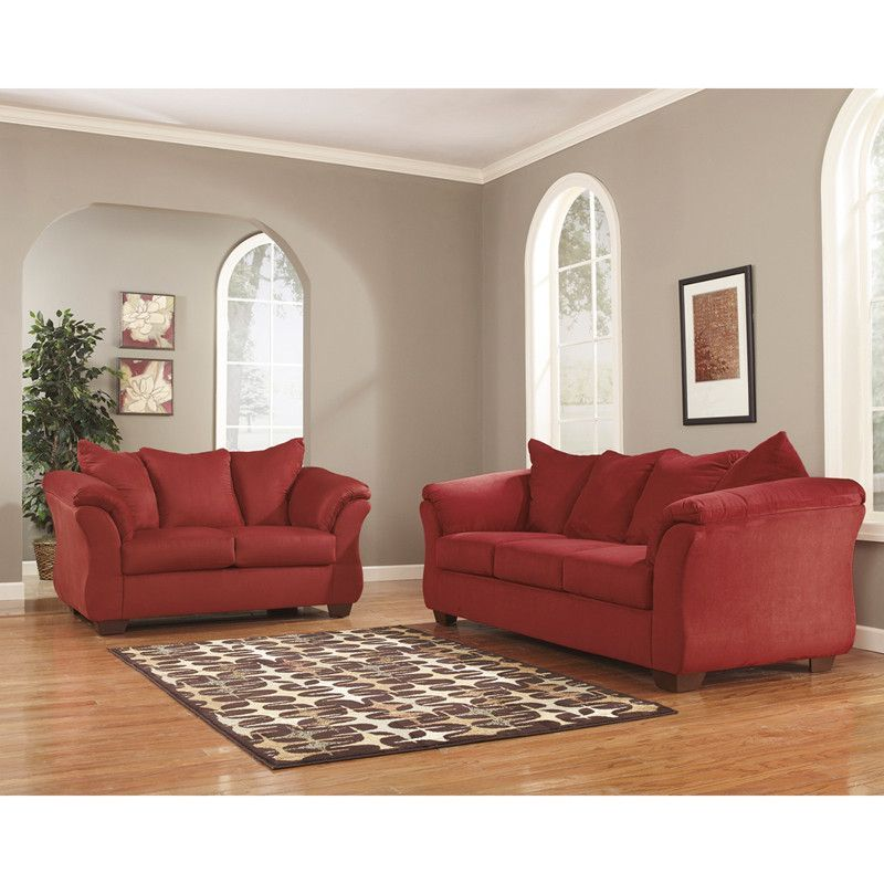 latest sofa designs for living room%0A Create an innovative wonder of brilliance within your home using Flash  Furniture Signature Design by Ashley Darcy Living Room Set in Red Salsa  Fabric