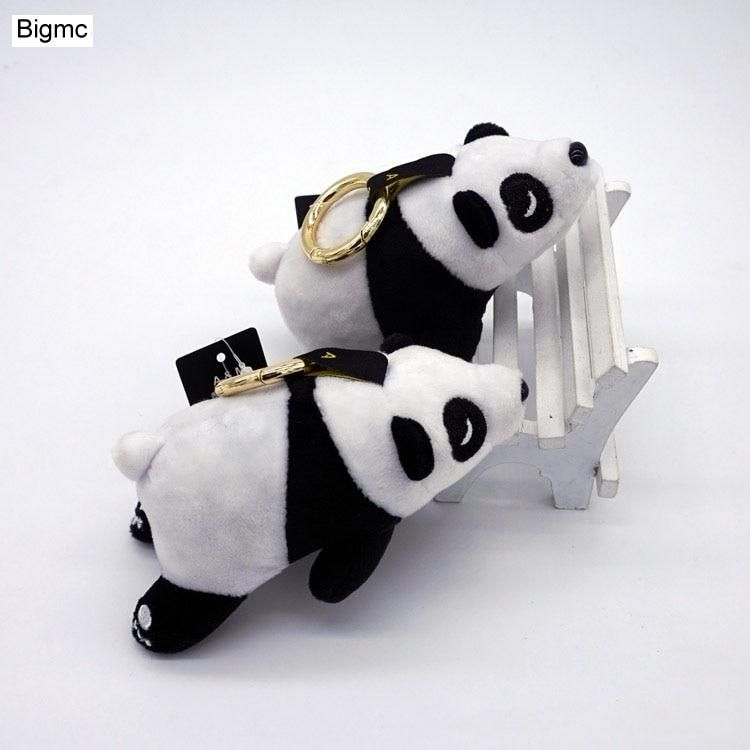 New 3D panda Key Chain women Pompom Animal Plush keychain Bag Charm  Accessories Car key Ring Cartoon panda Gift jewelry K1259. Yesterday s  price  US  4.99 ... 6f7a70f3ae