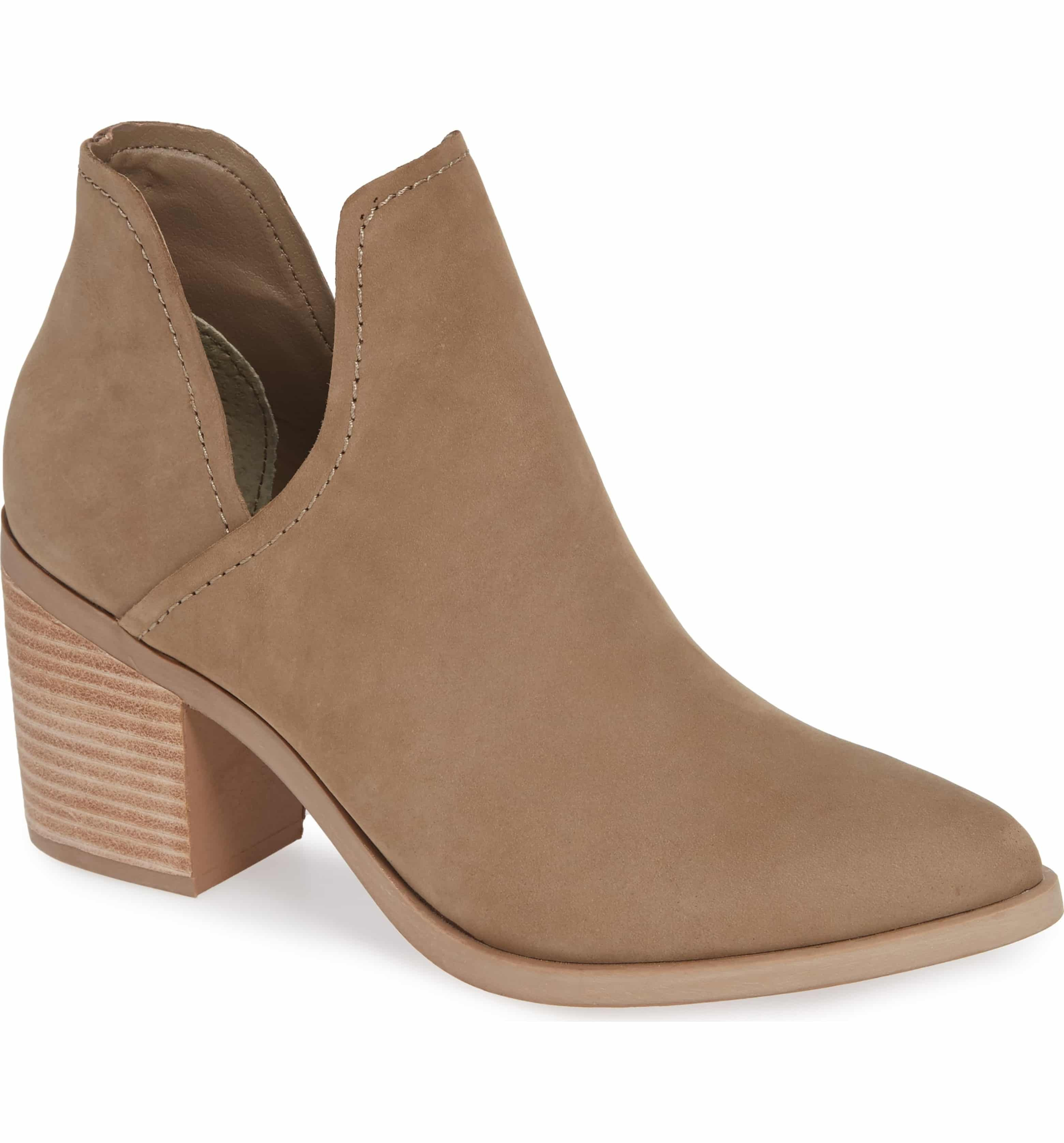 11f2ff9a9e4 Petra Open Side Bootie, Main, color, TAUPE NUBUCK | clothes | Fall ...