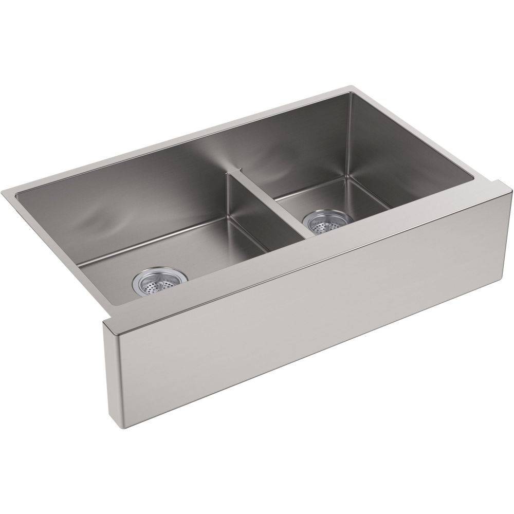 Kohler K 5416 NA Strive Stainless Steel Apron Front Double Bowl Kitchen  Sinks |