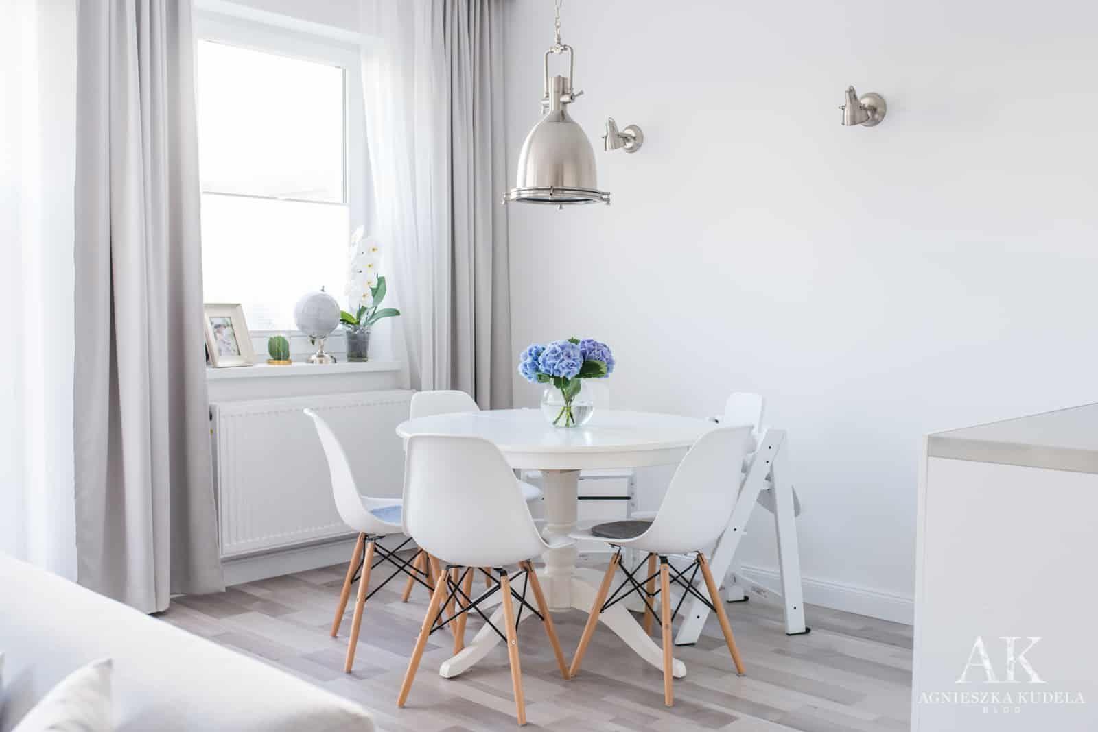 Jadalnia W Stylu Hamptons Nowojorskim Hamptons New York Style Dining Room Szare Zaslony Grey Curtains Majgull Jas Esszimmer Inspiration Wohnung Wohnen