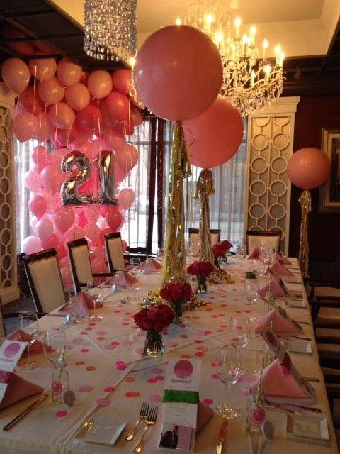 21st Birthday Party Table Decorations wwwpixsharkcom