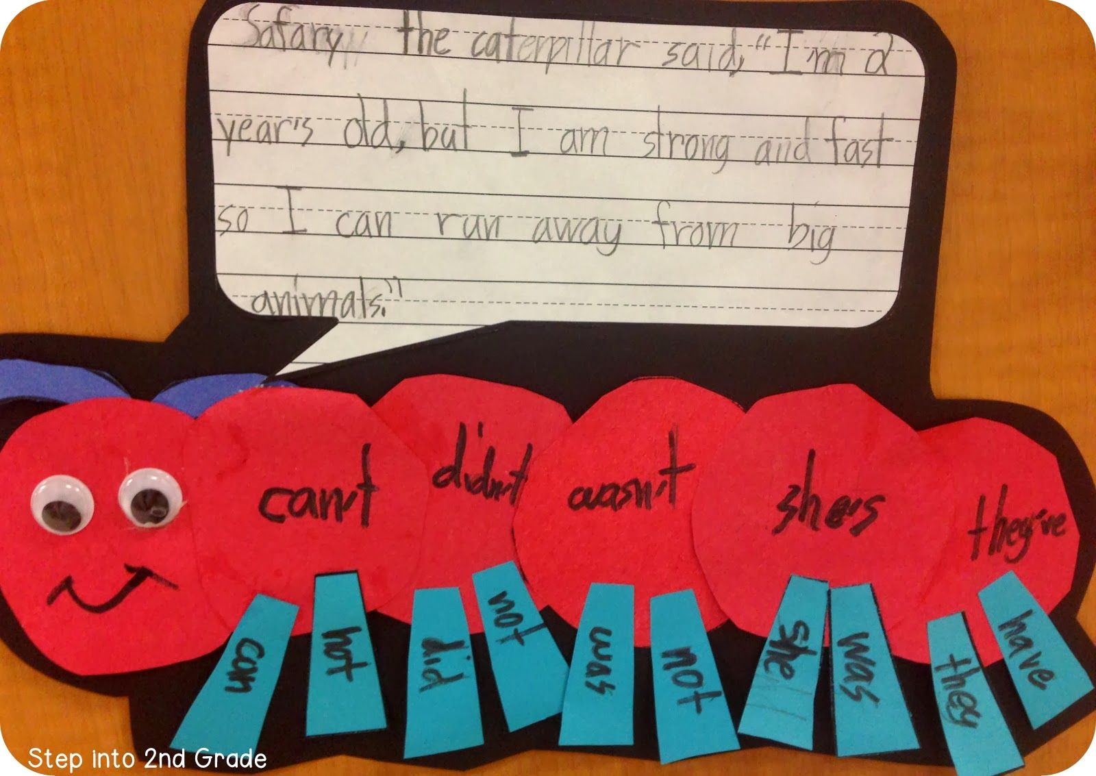 Step Into 2nd Grade With Mrs Lemons Contraction Caterpillar Doing This Next Week