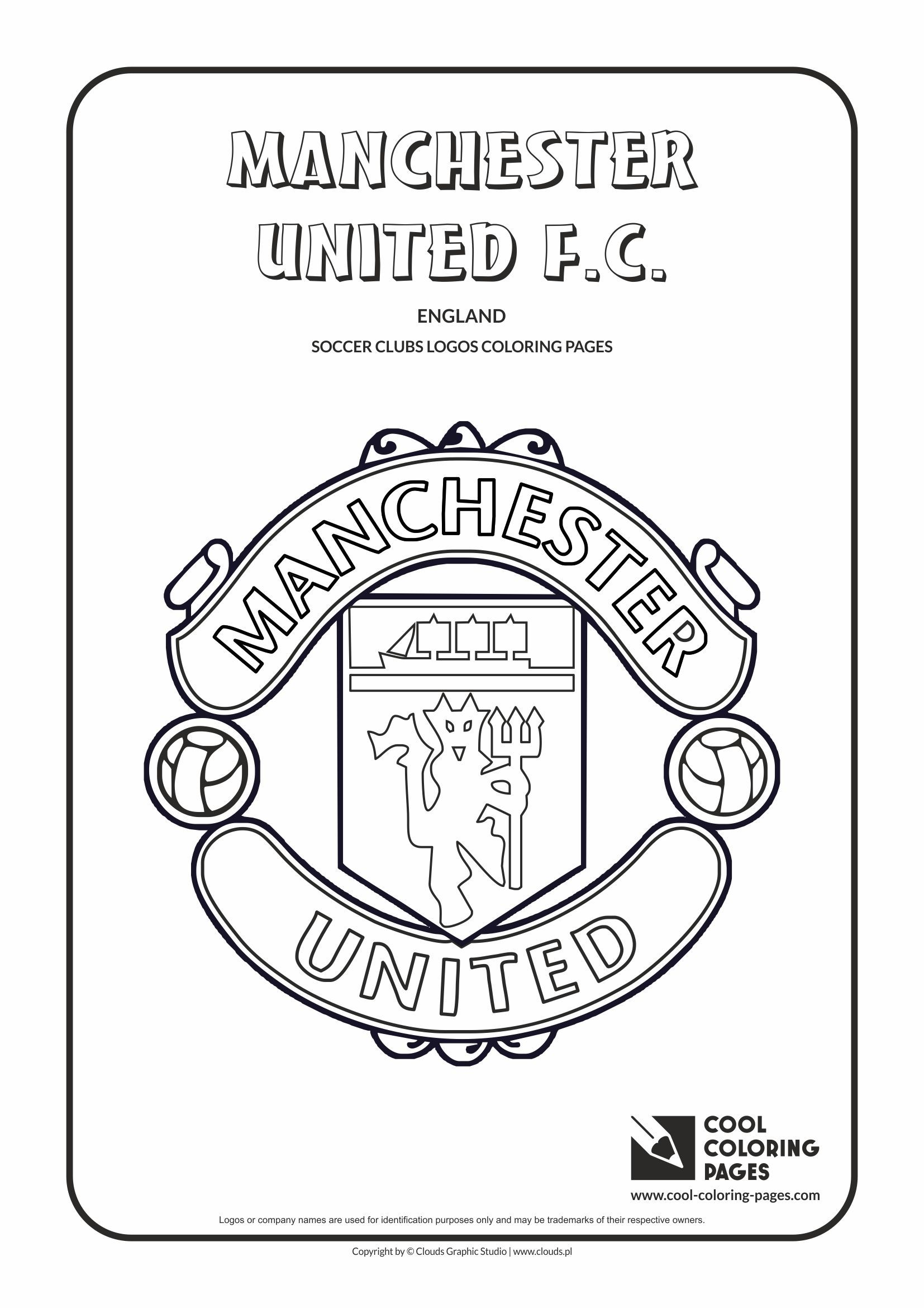 Uncategorized Coloring Pages Cool cool coloring pages soccer club logos manchester united f c logo page with
