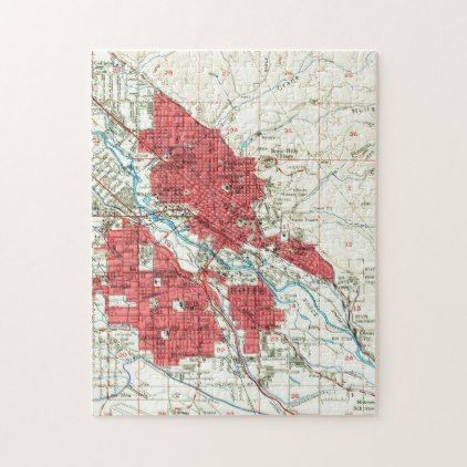 Vintage map of boise idaho 1954 jigsaw puzzle cyo customize vintage map of boise idaho 1954 jigsaw puzzle cyo customize design idea solutioingenieria Image collections