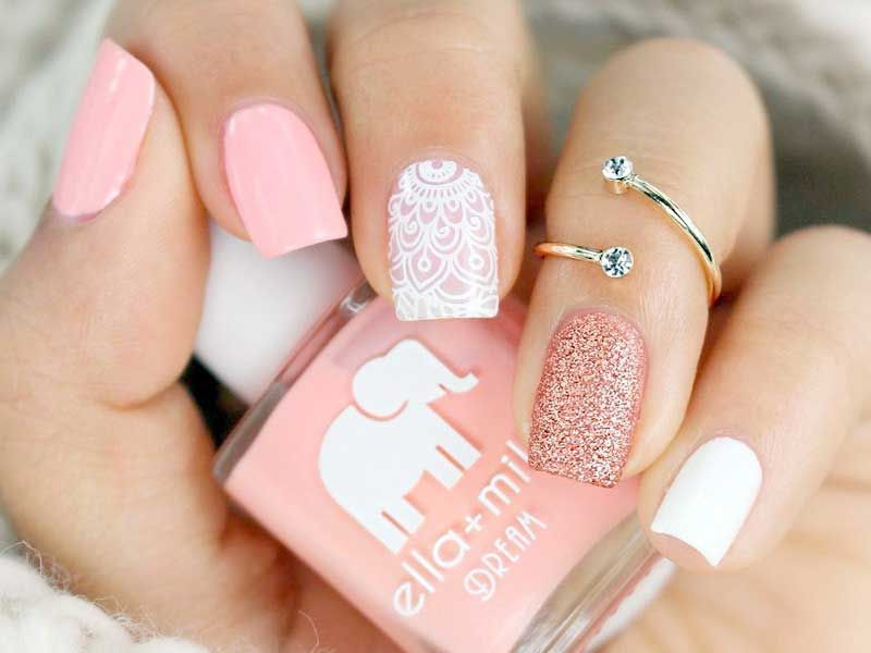 27 Ideas For Light Pink Nails To Finish Feminine Look Pink Nails Nail Charms Square Nail Designs