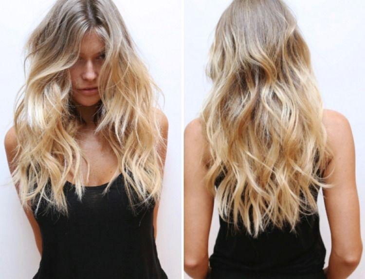 Frisuren lang blonde haare
